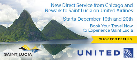 united airlines non stop service from chicago to saint lucia