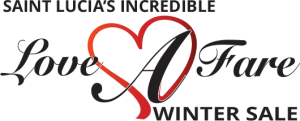 Saint Lucia Love A Fare Winter Sale Logo