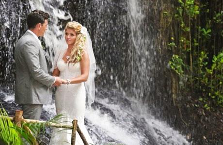 wedding waterfalls